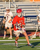 Baldwinsville Bees Trey Ordway (33) with the ball against  the Liverpool Warriors in Section III Boys Lacrosse action at Liverpool High School Stadium in Liverpool, New York on Thursday, May 13, 2021. Baldwinsville won 17-3.