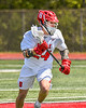 Baldwinsville Bees David Mahar (24) cradling the ball against the Marcellus Mustangs in Section III Boys Lacrosse action at the Pelcher-Arcaro Stadium in Baldwinsville, New York on Saturday, May 15, 2021. Baldwinsville won 17-4.