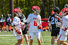 Baldwinsville Bees William Guild (6) celebrates his goal against the Marcellus Mustangs in Section III Boys Lacrosse action at the Pelcher-Arcaro Stadium in Baldwinsville, New York on Saturday, May 15, 2021. Baldwinsville won 17-4.