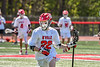 Baldwinsville Bees Carson Dyl (22) cradling the ball against the Marcellus Mustangs in Section III Boys Lacrosse action at the Pelcher-Arcaro Stadium in Baldwinsville, New York on Saturday, May 15, 2021. Baldwinsville won 17-4.