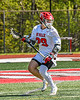 Baldwinsville Bees Michael Marsallo (29) looking to make a play against the Marcellus Mustangs in Section III Boys Lacrosse action at the Pelcher-Arcaro Stadium in Baldwinsville, New York on Saturday, May 15, 2021. Baldwinsville won 17-4.