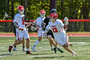 Baldwinsville Bees Keegan Lynch (13) with the ball against the Marcellus Mustangs in Section III Boys Lacrosse action at the Pelcher-Arcaro Stadium in Baldwinsville, New York on Saturday, May 15, 2021. Baldwinsville won 17-4.