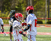 Baldwinsville Bees Lucas Hoskin (16) celebrates his goal against the Marcellus Mustangs in Section III Boys Lacrosse action at the Pelcher-Arcaro Stadium in Baldwinsville, New York on Saturday, May 15, 2021. Baldwinsville won 17-4.
