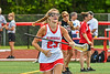 Baldwinsville Bees Madeleine Jerome (23) being introduced before playing the Cicero-North Syracuse Northstars in the Section III Class A Girls Lacrosse Finals game at Pelcher-Arcaro Stadium in Baldwinsville, New York on Saturday, May 12, 2021.