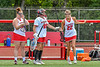 Baldwinsville Bees Sara Hunter (22) being introduced before playing the Cicero-North Syracuse Northstars in the Section III Class A Girls Lacrosse Finals game at Pelcher-Arcaro Stadium in Baldwinsville, New York on Saturday, May 12, 2021.