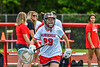 Baldwinsville Bees goalie Ava Graham (99) being introduced before playing the Cicero-North Syracuse Northstars in the Section III Class A Girls Lacrosse Finals game at Pelcher-Arcaro Stadium in Baldwinsville, New York on Saturday, May 12, 2021.
