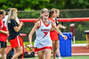 Baldwinsville Bees Emma Hollenbeck (7) being introduced before playing the Cicero-North Syracuse Northstars in the Section III Class A Girls Lacrosse Finals game at Pelcher-Arcaro Stadium in Baldwinsville, New York on Saturday, May 12, 2021.