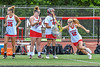 Baldwinsville Bees Mia Kuzdzal (12) being introduced before playing the Cicero-North Syracuse Northstars in the Section III Class A Girls Lacrosse Finals game at Pelcher-Arcaro Stadium in Baldwinsville, New York on Saturday, May 12, 2021.