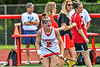 Baldwinsville Bees Sophia Ianno (2) being introduced before playing the Cicero-North Syracuse Northstars in the Section III Class A Girls Lacrosse Finals game at Pelcher-Arcaro Stadium in Baldwinsville, New York on Saturday, May 12, 2021.