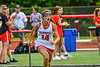 Baldwinsville Bees Sophia Muscolino (14) being introduced before playing the Cicero-North Syracuse Northstars in the Section III Class A Girls Lacrosse Finals game at Pelcher-Arcaro Stadium in Baldwinsville, New York on Saturday, May 12, 2021.