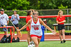 Baldwinsville Bees Carlie Desimone (18) being introduced before playing the Cicero-North Syracuse Northstars in the Section III Class A Girls Lacrosse Finals game at Pelcher-Arcaro Stadium in Baldwinsville, New York on Saturday, May 12, 2021.