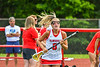 Baldwinsville Bees Hannah Mimas (8) being introduced before playing the Cicero-North Syracuse Northstars in the Section III Class A Girls Lacrosse Finals game at Pelcher-Arcaro Stadium in Baldwinsville, New York on Saturday, May 12, 2021.