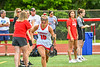 Baldwinsville Bees Tiffany Natoli (16) being introduced before playing the Cicero-North Syracuse Northstars in the Section III Class A Girls Lacrosse Finals game at Pelcher-Arcaro Stadium in Baldwinsville, New York on Saturday, May 12, 2021.