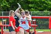 Baldwinsville Bees Mary Ferris (36) being introduced before playing the Cicero-North Syracuse Northstars in the Section III Class A Girls Lacrosse Finals game at Pelcher-Arcaro Stadium in Baldwinsville, New York on Saturday, May 12, 2021.