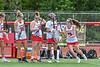 Baldwinsville Bees Maeve Bartell (15) being introduced before playing the Cicero-North Syracuse Northstars in the Section III Class A Girls Lacrosse Finals game at Pelcher-Arcaro Stadium in Baldwinsville, New York on Saturday, May 12, 2021.