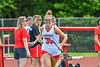 Baldwinsville Bees Gwenyth Madden (35) being introduced before playing the Cicero-North Syracuse Northstars in the Section III Class A Girls Lacrosse Finals game at Pelcher-Arcaro Stadium in Baldwinsville, New York on Saturday, May 12, 2021.