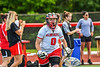 Baldwinsville Bees goalie Samantha Tanguay (0) being introduced before playing the Cicero-North Syracuse Northstars in the Section III Class A Girls Lacrosse Finals game at Pelcher-Arcaro Stadium in Baldwinsville, New York on Saturday, May 12, 2021.