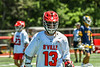 Baldwinsville Bees Keegan Lynch (13) on the field against the West Genesee Wildcats in Section III Class A Finals Boys Lacrosse action at Pelcher-Arcaro Stadium in Baldwinsville, New York on Saturday, May 12, 2021. Baldwinsville won 14-7.