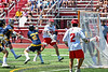Baldwinsville Bees Colin Socker (26) fires a shot at the  West Genesee Wildcats net in Section III Class A Finals Boys Lacrosse action at Pelcher-Arcaro Stadium in Baldwinsville, New York on Saturday, May 12, 2021. Baldwinsville won 14-7.