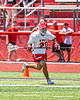 Baldwinsville Bees Brayden Penafeather-Stevenson (21) running with the ball against the West Genesee Wildcats in Section III Class A Finals Boys Lacrosse action at Pelcher-Arcaro Stadium in Baldwinsville, New York on Saturday, May 12, 2021. Baldwinsville won 14-7.