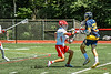 West Genesee Wildcats Braeden McNeill (29) shoots and scores against the Baldwinsville Bees in Section III Class A Finals Boys Lacrosse action at Pelcher-Arcaro Stadium in Baldwinsville, New York on Saturday, May 12, 2021. Baldwinsville won 14-7.