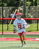 Baldwinsville Bees Keegan Lynch (13) looking to make a play against the West Genesee Wildcats in Section III Class A Finals Boys Lacrosse action at Pelcher-Arcaro Stadium in Baldwinsville, New York on Saturday, May 12, 2021. Baldwinsville won 14-7.
