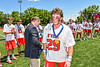 Baldwinsville Bees Michael Marsallo (29) receiving his NYSPHSAA Section III Class A Boys Lacrosse championship medal at the Pelcher-Arcaro Stadium in Baldwinsville, New York on Saturday, June 12, 2021.