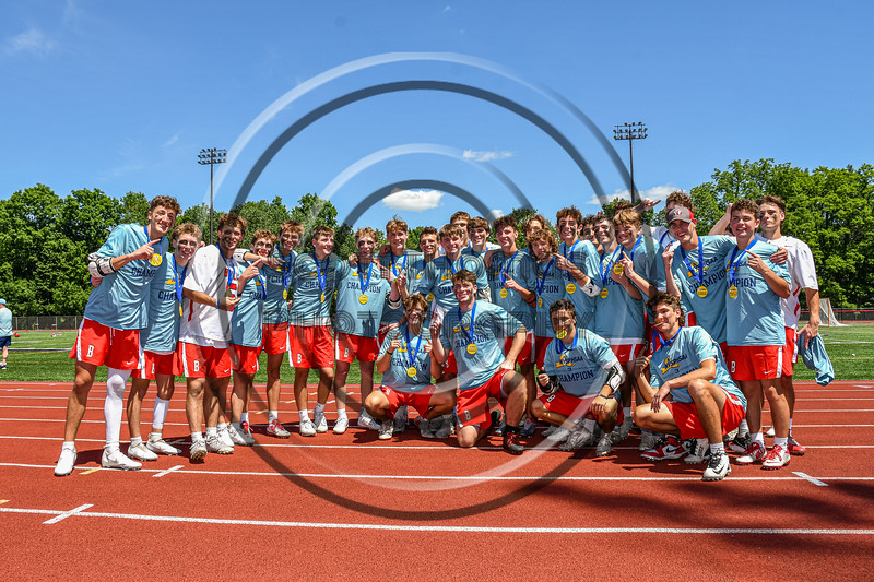Baldwinsville Bees are the NYSPHSAA Section III Class A Boys Lacrosse champions after defeating the West Genesee Wildcats 14-7 at the Pelcher-Arcaro Stadium in Baldwinsville, New York on Saturday, June 12, 2021.