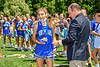 Cicero-North Syracuse Northstars Gabriella Pauline (11) receiving her NYSPHSAA Section III Class A Girls Lacrosse championship medal at the Pelcher-Arcaro Stadium in Baldwinsville, New York on Saturday, June 12, 2021.