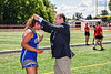 Cicero-North Syracuse Northstars XXXXX receiving her NYSPHSAA Section III Class A Girls Lacrosse championship medal at the Pelcher-Arcaro Stadium in Baldwinsville, New York on Saturday, June 12, 2021.