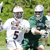 03/24/2010...Ridgewood's Max Luing (5) had one goal in Ridgewood's 8-4 loss to Delbarton.<br /> PHOTO: KELLY BIRDSEYE