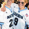 05/09/2010...Mahwah's Tim Culloty (left) had one goal and Ryan Magner with 3 in the Thunderbirds' 10-6 win over Bergen Catholic in the Bergen County Lacrosse Tournament Final.<br /> PHOTO: KELLY BIRDSEYE