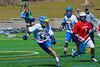 Cazenovia Lakers Eli Mitchell (11) with the ball against the Baldwinsville Bees on Saturday, April 6, 2013. Cazenovia won 5-4 in Double Overtime.