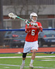 Baldwinsville Bees Ronnie Bertrand (6) looking to pass against the Liverpool Warriors on Tuesday, April 9, 2013.