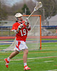 Baldwinsville Bees Joshua English (19) during pre-game warm-ups before playing the Liverpool Warriors on Tuesday, April 9, 2013.