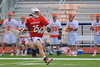 Baldwinsville Bees Kyle Akers (25) running with the ball up the field against the Liverpool Warriors on Tuesday, April 9, 2013.