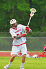 Baldwinsville Bees Sean Barron (24) in warm ups before playing the Cicero-North Syracuse Northstars in the Class A quarterfinal Section III Boys Lacrosse game at the Pelcher-Arcaro Stadium in Baldwinsville, New York.