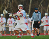 Baldwinsville Bees Dakota Luke (3) winds up for a shot against the Corcoran Cougars in Section III Boys Lacrosse action at the Pelcher-Arcaro Stadium in Baldwinsville, New York.  Baldwinsville won 10-1.
