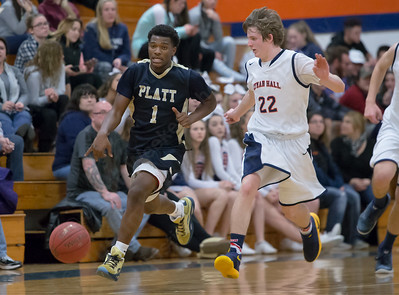 Tuesday at Lyman Hall High School in Wallingford The Platt Panthers defeated the Lyman Hall Trojans 93 to 79.December,27 2016 © 2016 Justin Weekes