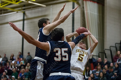 Sheehan's Caden Cloutier puts up a shot Saturday at Sheehan High School in Wallingford January 6, 2018 | Justin Weekes / Special to the Record-Journal