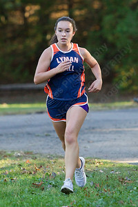 Lyman Hall's Kailey Lipka finished second for the Trojans Thursday at Wharton Brook State Park in North Haven October 12, 2017 | Justin Weekes / For the Record-Journal