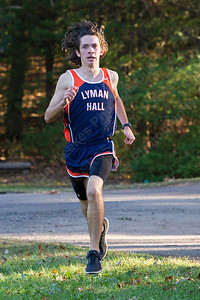 Lyman Hall's Brian Oliveira finished first for the Trojans Thursday at Wharton Brook State Park in North Haven October 12, 2017 | Justin Weekes / For the Record-Journal