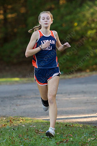 Lyman Hall's Rachel Ruggiero finished first for the Trojans Thursday at Wharton Brook State Park in North Haven October 12, 2017 | Justin Weekes / For the Record-Journal