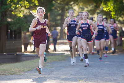 Sheehan's Elisabeth Brown lead from start to finish for the Titans Thursday at Wharton Brook State Park in North Haven October 12, 2017 | Justin Weekes / For the Record-Journal