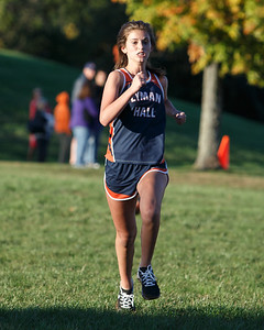 Lyman Hall's Olivia Weir finished third Friday at Sheehan High School in Wallingford October 12, 2018 | Justin Weekes / Special to the Record-Journal