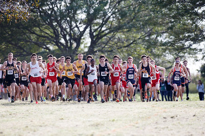 Friday during the SCC Cross Country Championships at East Shore Park in New Haven October 19, 2018 | Justin Weekes / Special to the Record-Journal