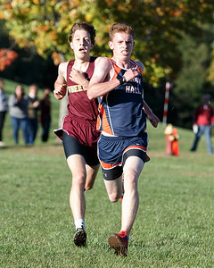 Lyman Hall's Jack Murphy beat out Sheehan's Derrick Arnold for second Friday at Sheehan High School in Wallingford October 12, 2018 | Justin Weekes / Special to the Record-Journal