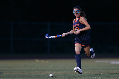 Lyman Hall's Michaela Avallone chases a lose ball Monday at Riccitelli Field on the campus of Sheehan High School in Wallingford September 17, 2018   Justin Weekes / Special to the Record-Journal
