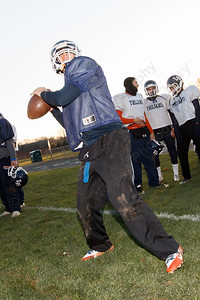 Steven Grammatico Thursday during practice at Lyman Hall High School in Wallingford  Nov 20, 2014   Justin Weekes / For the Record-Journal