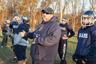 Aidan Lynch head coach Thursday during practice at Lyman Hall High School in Wallingford  Nov 20, 2014 | Justin Weekes / For the Record-Journal